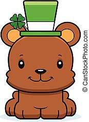 Cartoon Smiling Irish Bear