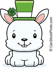 Cartoon Smiling Irish Bunny