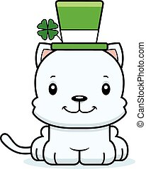Cartoon Smiling Irish Kitten