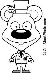Cartoon Smiling Irish Mouse
