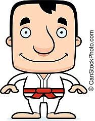 Cartoon Smiling Karate Man