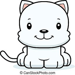 Cartoon Smiling Kitten