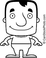 Cartoon Smiling Man