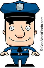 Cartoon Smiling Police Officer Man - A cartoon police ...