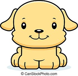 Cartoon Smiling Puppy
