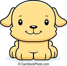 Cartoon Smiling Puppy