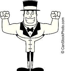 Cartoon Smiling Ringmaster