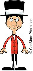 Cartoon Smiling Ringmaster Man