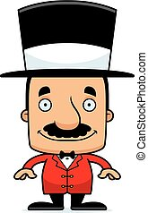 Cartoon Smiling Ringmaster Man