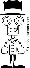 Cartoon Smiling Ringmaster Robot