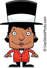 Cartoon Smiling Ringmaster Woman