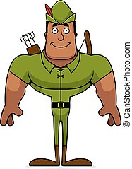 Cartoon Smiling Robin Hood