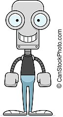 Cartoon Smiling Robot