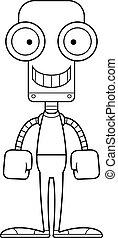 Cartoon Smiling Robot