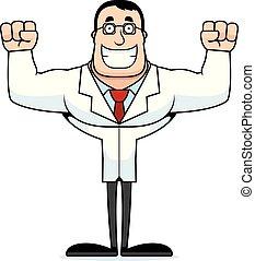 Cartoon Smiling Scientist