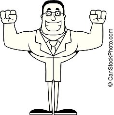 Cartoon Smiling Scientist