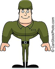 Cartoon Smiling Soldier