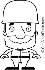 Cartoon Smiling Soldier Man