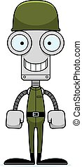 Cartoon Smiling Soldier Robot