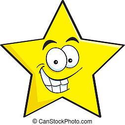 Cartoon smiling star