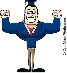 Cartoon Smiling Teacher