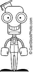 Cartoon Smiling Teacher Robot