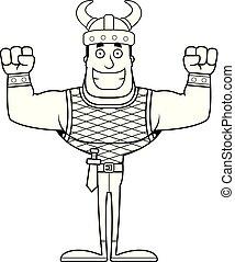 Cartoon Smiling Viking