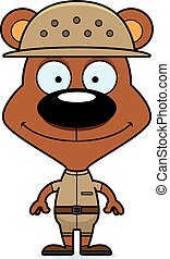 Cartoon Smiling Zookeeper Bear - A cartoon zookeeper bear...