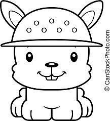 Cartoon Smiling Zookeeper Bunny - A cartoon zookeeper bunny...