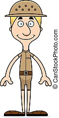 Cartoon Smiling Zookeeper Man - A cartoon zookeeper man...