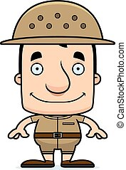 Cartoon Smiling Zookeeper Man - A cartoon zookeeper man...