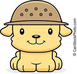 Cartoon Smiling Zookeeper Puppy - A cartoon zookeeper puppy...