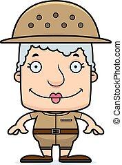 Cartoon Smiling Zookeeper Woman - A cartoon zookeeper woman...