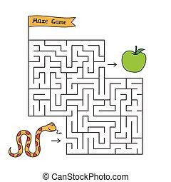 Cartoon Snake Maze Game