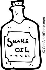 cartoon snake oil