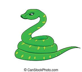 cartoon snake, the symbol of 2013 - snake cartoon with...