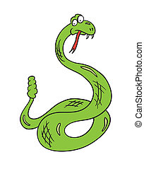 cartoon snake, vector illustration
