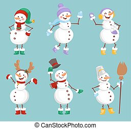 Cartoon snowman character