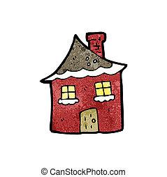 cartoon snowy house