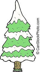 cartoon snowy tree