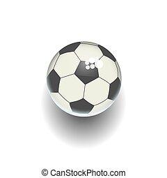 Cartoon soccer ball isolated white vector illustration
