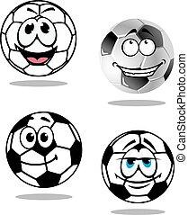 Cartoon soccer or football characters