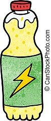 cartoon soda bottle