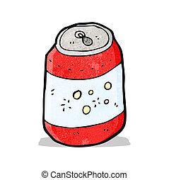 cartoon soda can