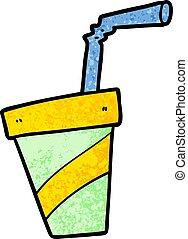 cartoon soda drink