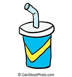 cartoon soda