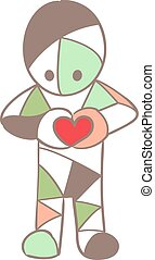 Cartoon soft colored man