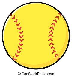 Cartoon Softball