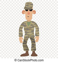 Cartoon soldier man