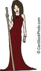 cartoon sorceress